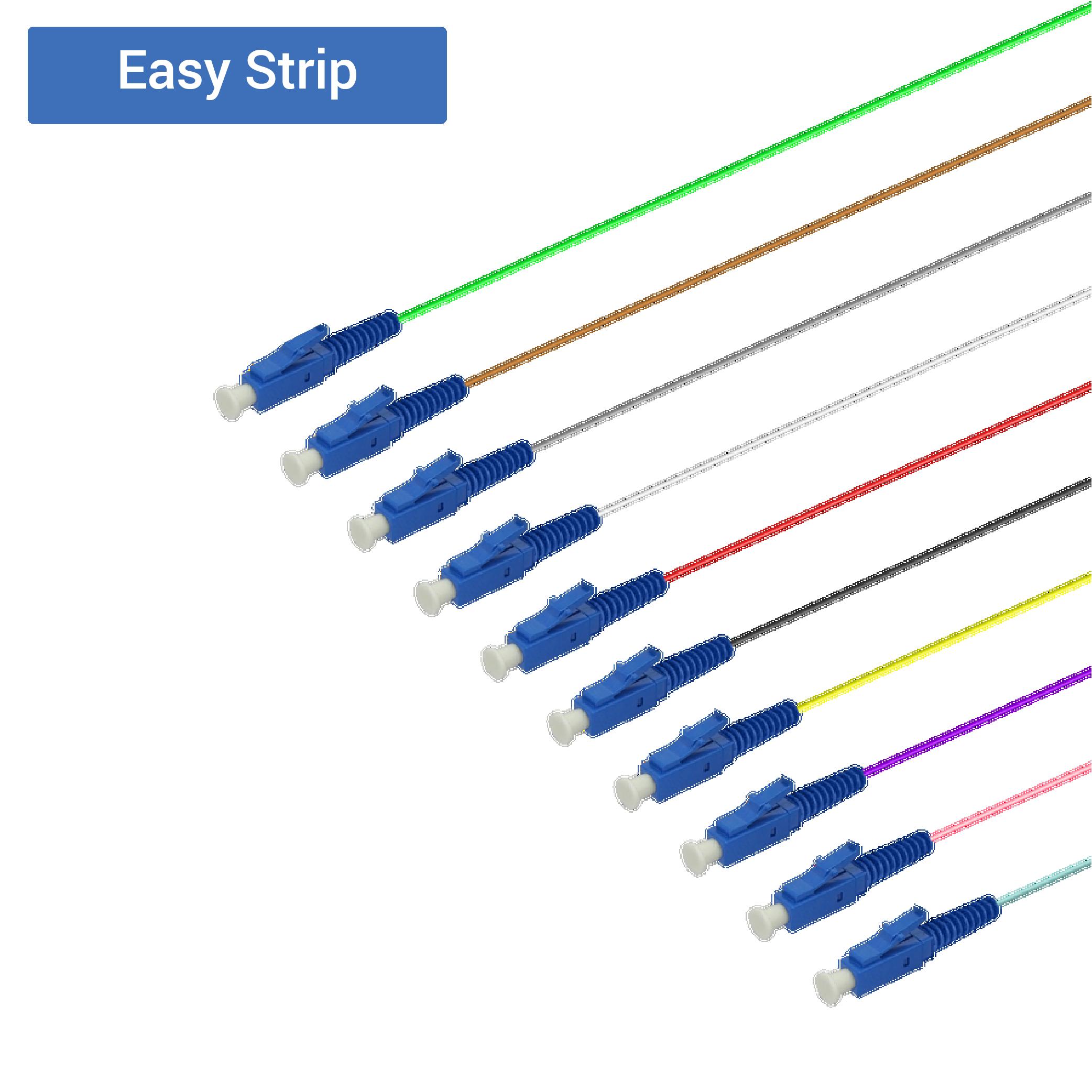 Samm Teknoloji - LC/UPC 12 Fiber Pigtail | Single Mode G657.A2 | 0.9mm