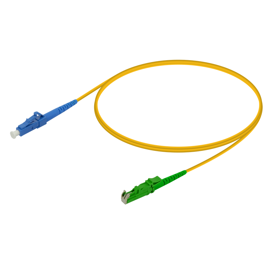 Samm Teknoloji - LC/UPC-LSH/APC | Single Mode G657.A2 Simplex Patch Cord | 2.0mm