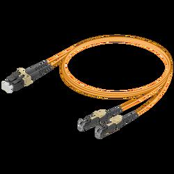 Samm Teknoloji - LC/UPC-E2000/UPC | Multi Mode G651.OM1 Duplex Patch Cord | 2.0x4.1mm