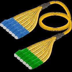 Samm Teknoloji - LC/UPC-LC/APC | 12 Fiber Fanout | Single Mode G657.A2 | 3.0/1.8mm