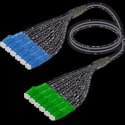 Samm Teknoloji - LC/UPC-LC/APC | 12 Fiber Universal Fanout | Single Mode G657.A2 | 4.8/1.8mm