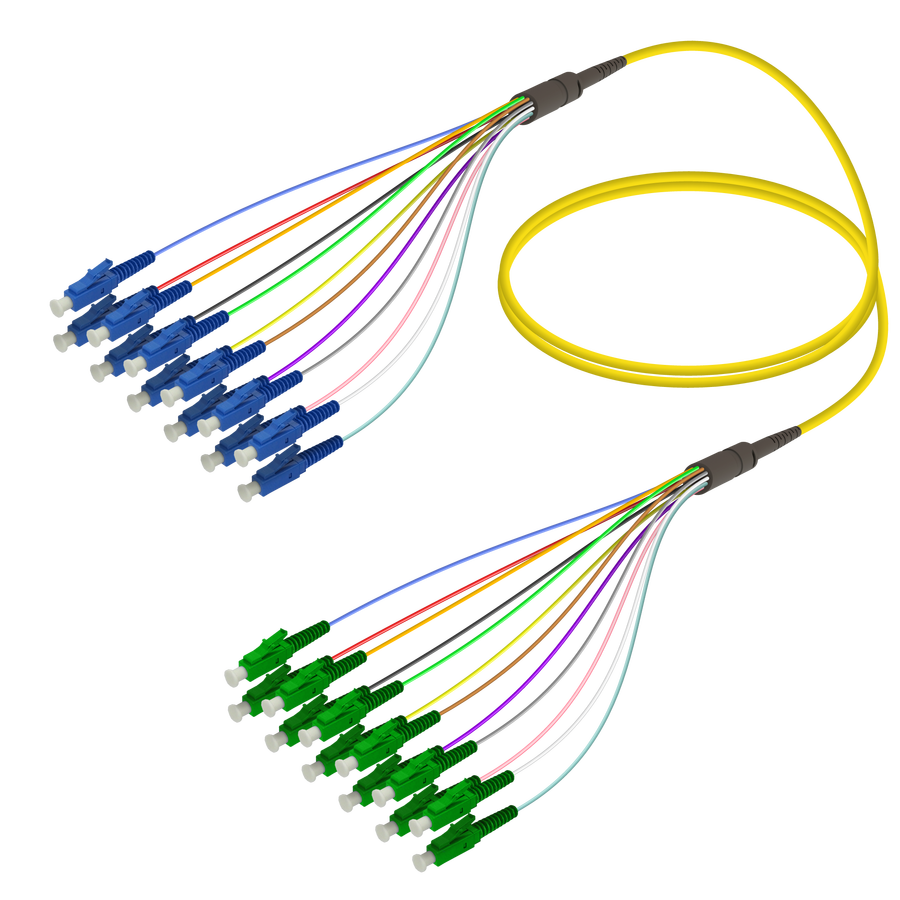 LC/UPC-LC/APC | 12 Fibers Fanout | Single Mode G657.A2 | 3.0/0.9mm