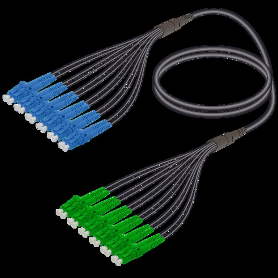 Samm Teknoloji - LC/UPC-LC/APC | 12 Fibers Universal Fanout | Single Mode G657.A2 | 4.8/1.8mm