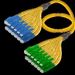 Samm Teknoloji - LC/UPC-LC/APC | 24 Fiber Fanout | Single Mode G657.A2 | 3.0/1.8mm