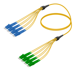 Samm Teknoloji - LC/UPC-LC/APC | 8 Fiber Fanout | Single Mode G657.A2 | 3.0/1.8mm