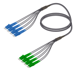 Samm Teknoloji - LC/UPC-LC/APC | 8 Fiber Universal Fanout | Single Mode G657.A2 | 4.8/1.8mm