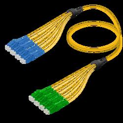 Samm Teknoloji - LC/UPC-LC/APC | 8 Fibers Fanout | Single Mode G657.A2 | 3.0/1.8mm