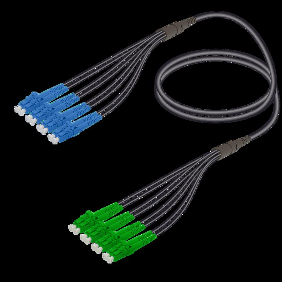 Samm Teknoloji - LC/UPC-LC/APC | 8 Fibers Universal Fanout | Single Mode G657.A2 | 4.8/1.8mm