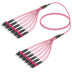 Samm Teknoloji - LC/UPC-LC/UPC | 12 Fiber Fanout | Multi Mode G651.OM4 | 3.0/1.8mm