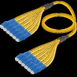 Samm Teknoloji - LC/UPC-LC/UPC | 12 Fiber Fanout | Single Mode G657.A2 | 3.0/1.8mm
