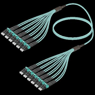 Samm Teknoloji - LC/UPC-LC/UPC | 12 Fibers Fanout | Multi Mode G651.OM3 | 3.0/1.8mm