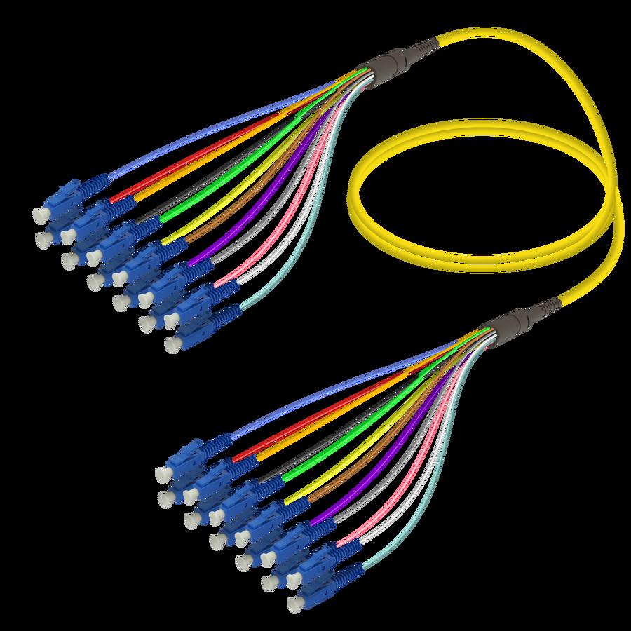 LC/UPC-LC/UPC | 12 Fibers Fanout | Single Mode G657.A2 | 3.0/0.9mm
