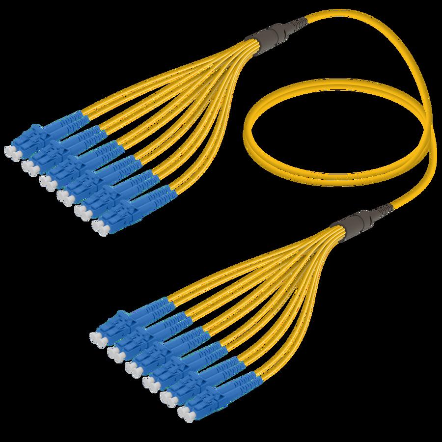 LC/UPC-LC/UPC | 12 Fibers Fanout | Single Mode G657.A2 | 3.0/1.8mm