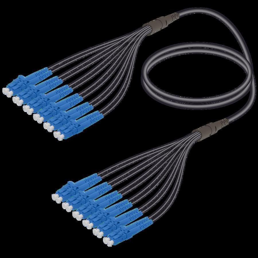Samm Teknoloji - LC/UPC-LC/UPC | 12 Fibers Universal Fanout | Single Mode G657.A2 | 4.8/1.8mm