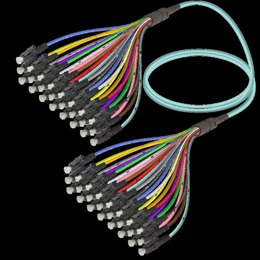 LC/UPC-LC/UPC | 24 Fibers Fanout | Multi Mode G651.OM3 | 3.0/0.9mm