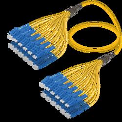 Samm Teknoloji - LC/UPC-LC/UPC | 24 Fibers Fanout | Single Mode G657.A2 | 3.0/1.8mm