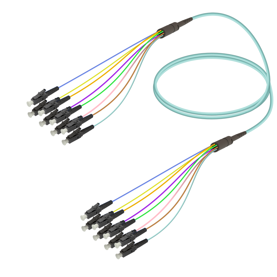 Samm Teknoloji - LC/UPC-LC/UPC | 8 Fiber Fanout | Multi Mode G651.OM3 | 3.0/0.9mm