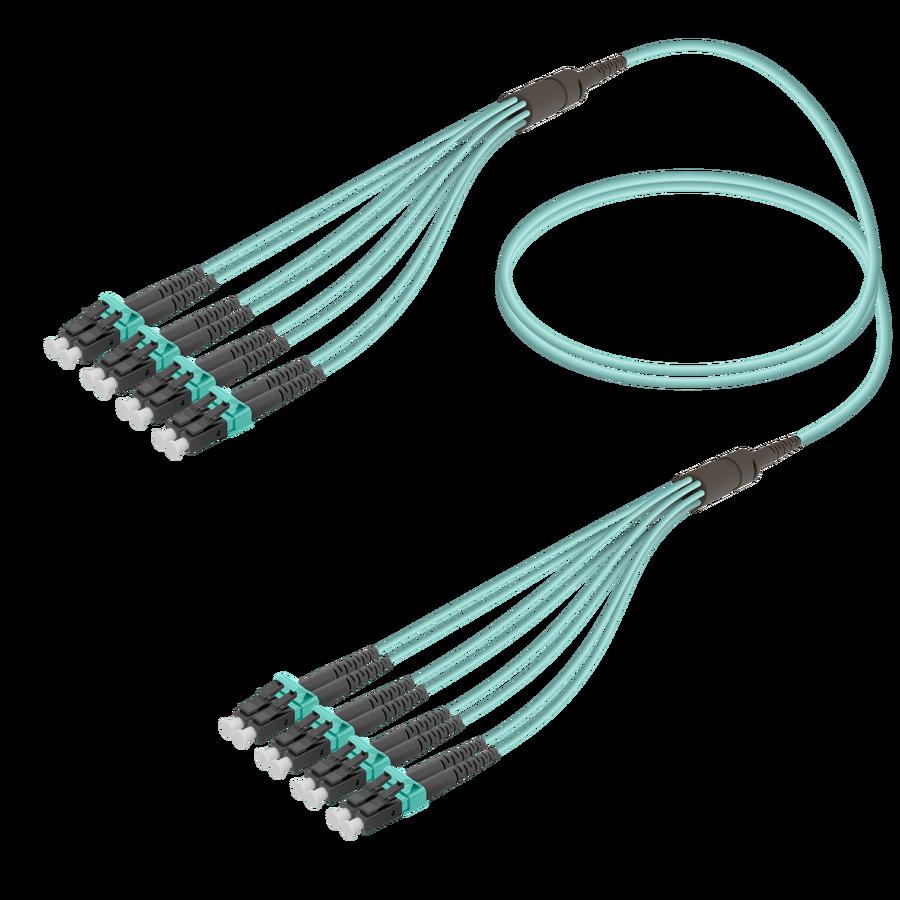 Samm Teknoloji - LC/UPC-LC/UPC | 8 Fiber Fanout | Multi Mode G651.OM3 | 3.0/1.8mm