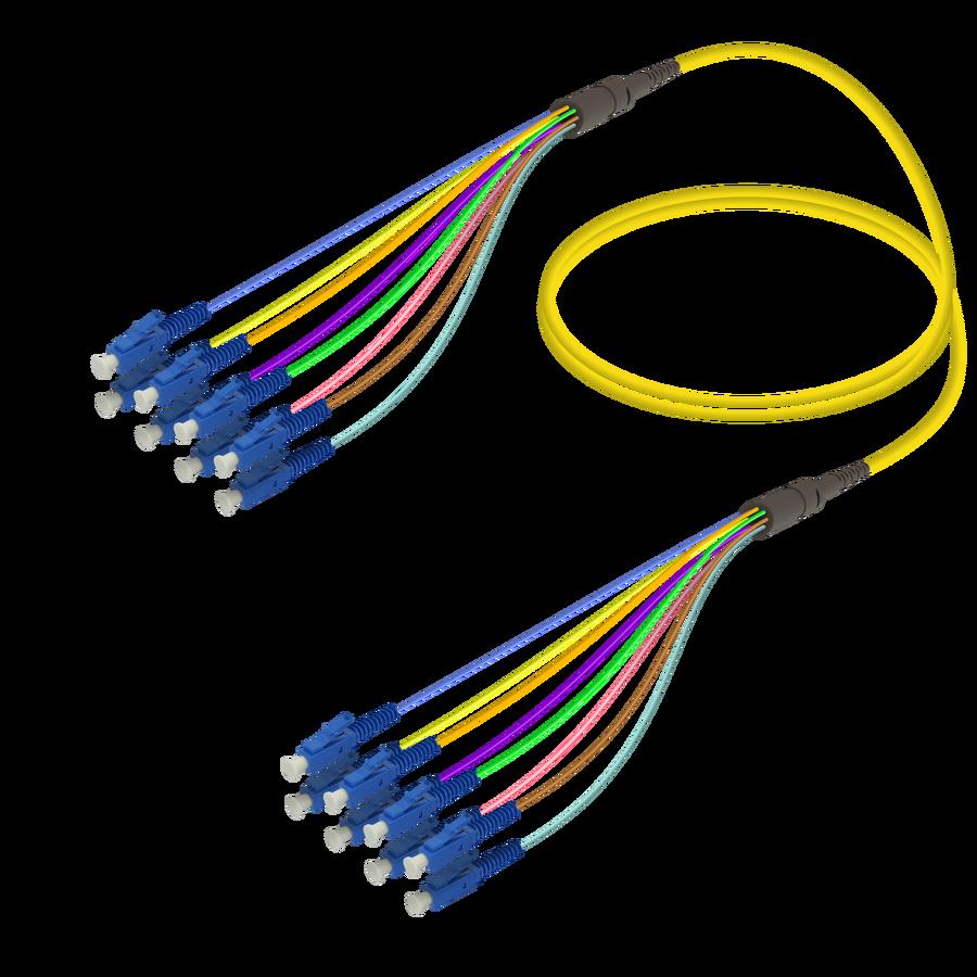 Samm Teknoloji - LC/UPC-LC/UPC | 8 Fiber Fanout | Single Mode G657.A2 | 3.0/0.9mm