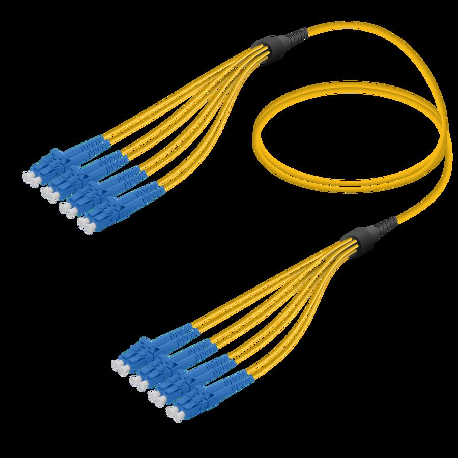 Samm Teknoloji - LC/UPC-LC/UPC | 8 Fiber Fanout | Single Mode G657.A2 | 3.0/1.8mm