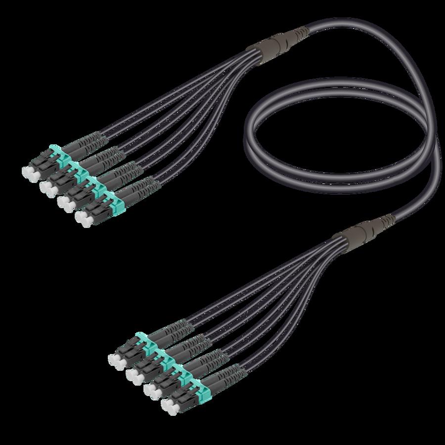Samm Teknoloji - LC/UPC-LC/UPC | 8 Fiber Universal Fanout | Multi Mode G651.OM3 | 4.8/1.8mm