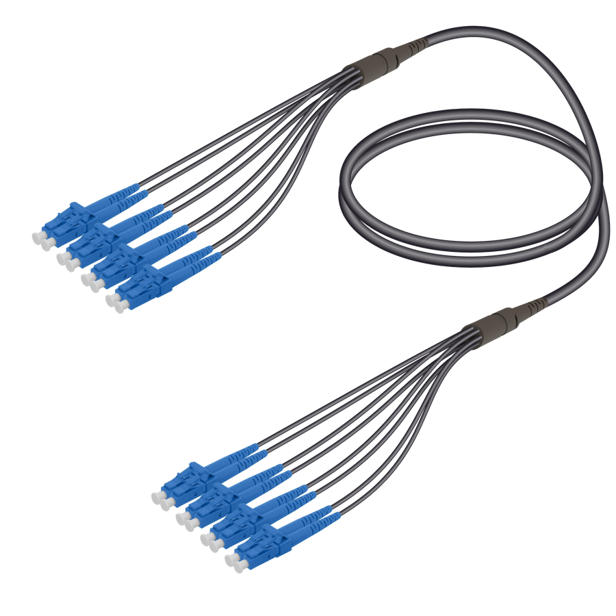 Samm Teknoloji - LC/UPC-LC/UPC | 8 Fiber Universal Fanout | Single Mode G657.A2 | 4.8/1.8mm