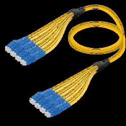 Samm Teknoloji - LC/UPC-LC/UPC | 8 Fibers Fanout | Single Mode G657.A2 | 3.0/1.8mm