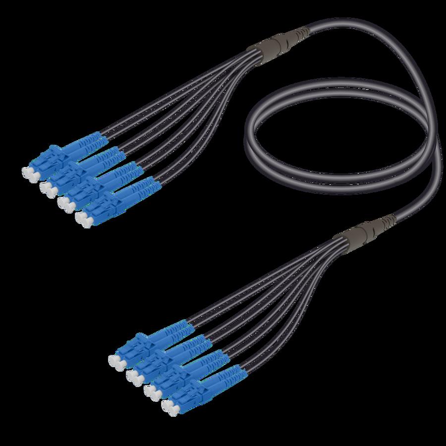 Samm Teknoloji - LC/UPC-LC/UPC | 8 Fibers Universal Fanout | Single Mode G657.A2 | 4.8/1.8mm