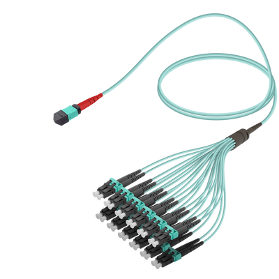 Samm Teknoloji - Male MTP Elite to LC/UPC Fanout | Base-24 | Multi Mode G651.OM3 | 3.0/1.8mm