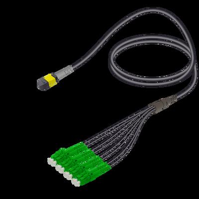 Samm Teknoloji - Male MTP Elite to LC/APC Universal Fanout | Base-8 | Single Mode G657.A2 | 4.8/1.8mm