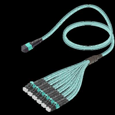 Samm Teknoloji - Male MTP Elite to LC/UPC Fanout | Base-12 | Multi Mode G651.OM3 | 3.0/1.8mm