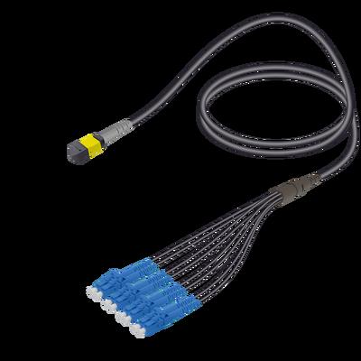 Samm Teknoloji - Male MTP Elite to LC/UPC Universal Fanout | Base-8 | Single Mode G657.A2 | 4.8/1.8mm