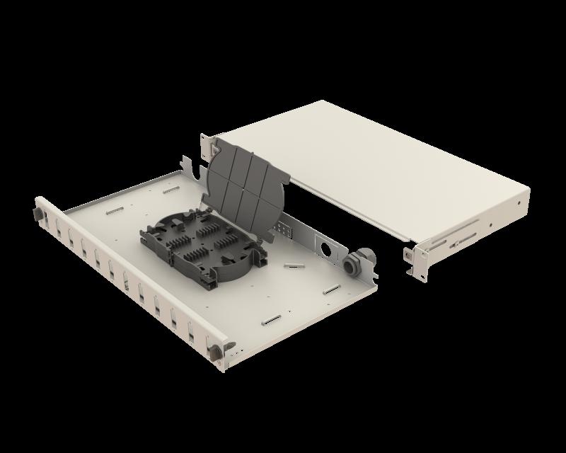 Mekanik Kızaklı | 1U Fiber Patch Panel | 12 Yuva | EFP12