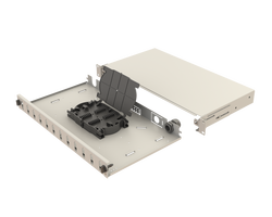 Samm Teknoloji - Mekanik Kızaklı | 1U Fiber Patch Panel | 12 Yuva | EFP12 (1)