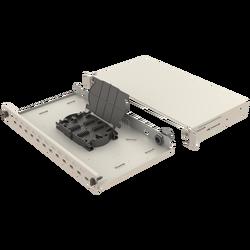 Samm Teknoloji - Mekanik Kızaklı | 1U Fiber Patch Panel | 24 Yuva | EFP15 (1)