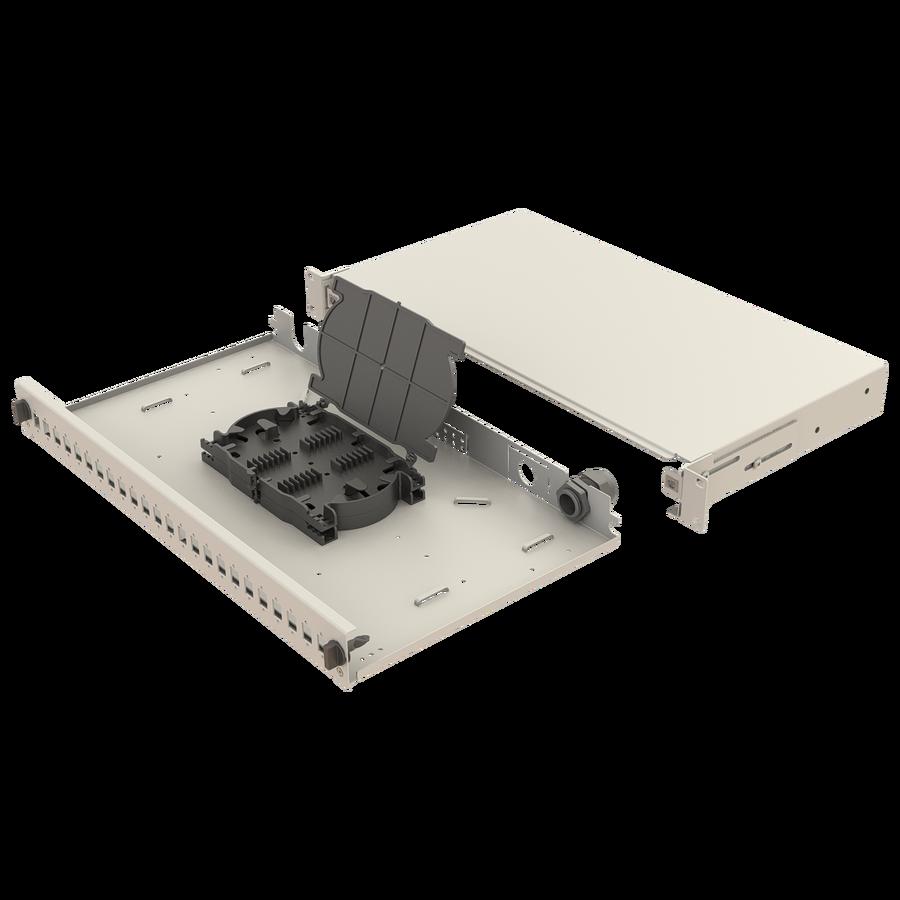 Samm Teknoloji - Mekanik Kızaklı   1U Fiber Patch Panel   24 Yuva   EFP13 (1)