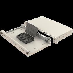Samm Teknoloji - Mekanik Kızaklı | 1U Fiber Patch Panel | 24 Yuva | EFP13 (1)