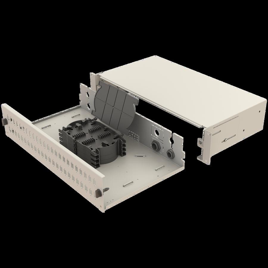 Samm Teknoloji - Mekanik Kızaklı   2U Fiber Patch Panel   48 Yuva   EFP21 (1)