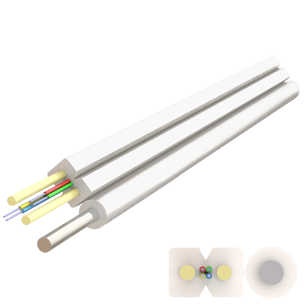 Samm Teknoloji - Messenger FRP Drop Cable 2.0x5.2mm | A-N(ZM)H-SH | Up to 4F | 1000 meters (1)