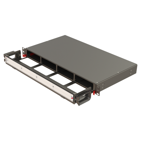 Samm Teknoloji - Modular High Density Panel with Organizer   1U 4 Slots
