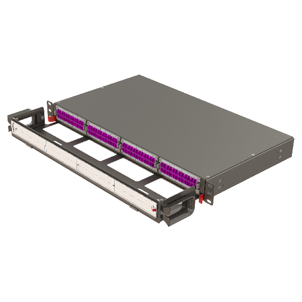 Samm Teknoloji - Modular High Density Panel with Organizer   1U 4 Slots (1)