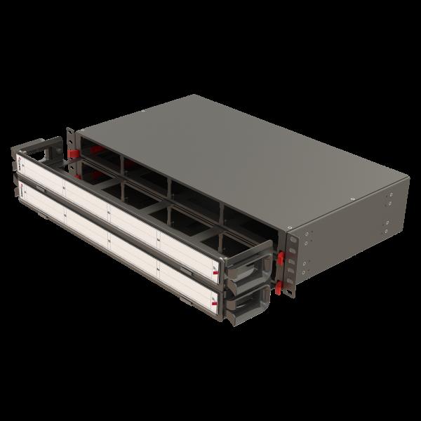 Samm Teknoloji - Modular High Density Panel with Organizer   2U 8 Slots