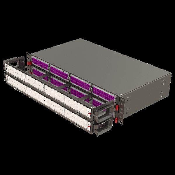 Samm Teknoloji - Modular High Density Panel with Organizer   2U 8 Slots (1)