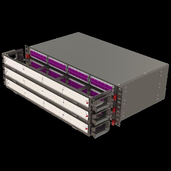 Samm Teknoloji - Modular High Density Panel with Organizer   3U 12 Slots (1)