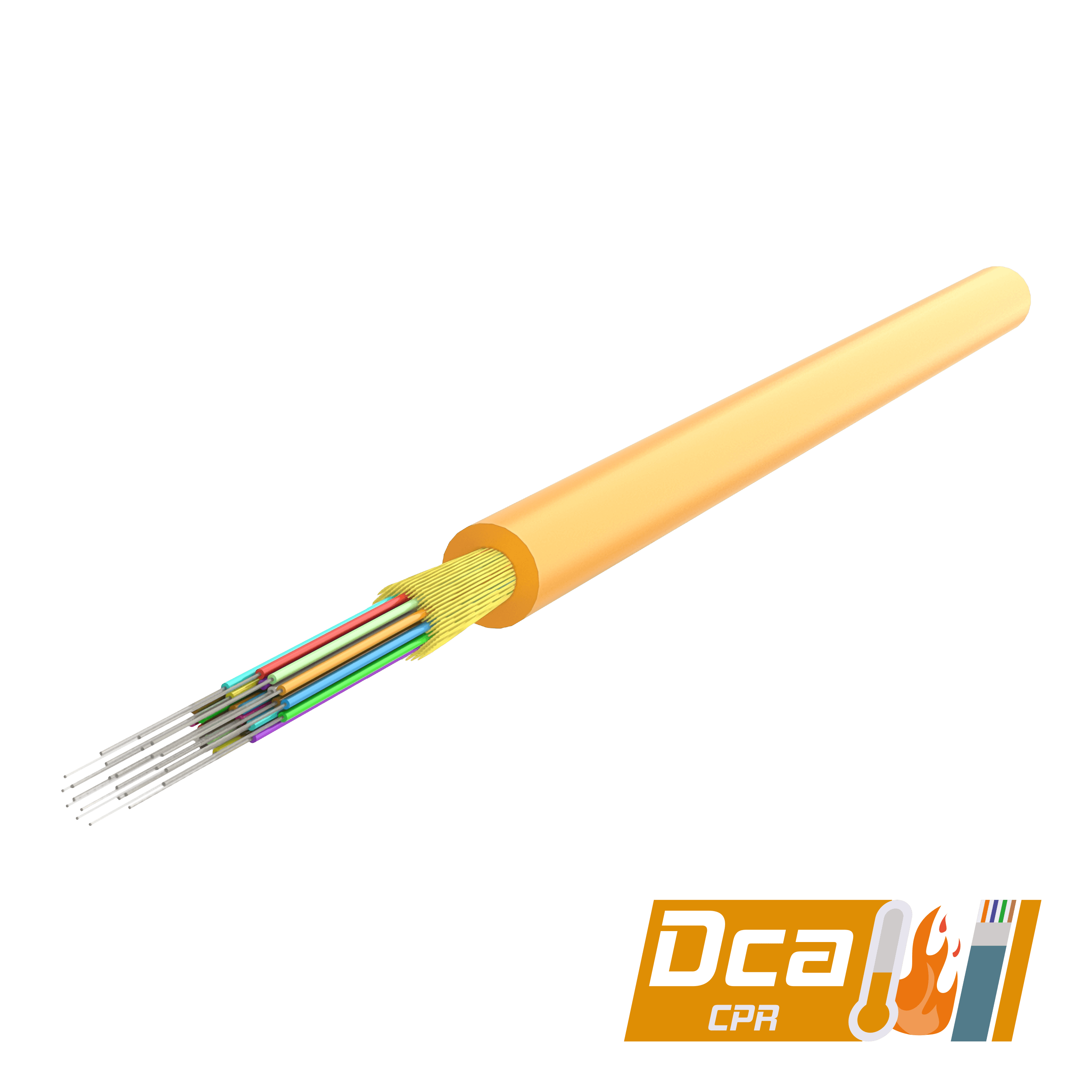 Multi-Fiber Distribution Cable 3.0mm | I-(ZN)H 1x24 | CPR: Dca | 1000 meters