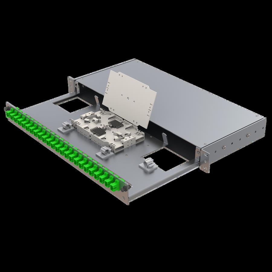 Samm Teknoloji - Alüminyum 1U Patch Panel | 24 SC Simplex (1)