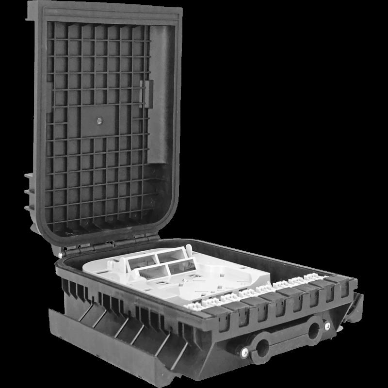 Samm Teknoloji - Outdoor Termination Box | 1 Tray 16 Fibers 16 Ports 16 PLC | 305216