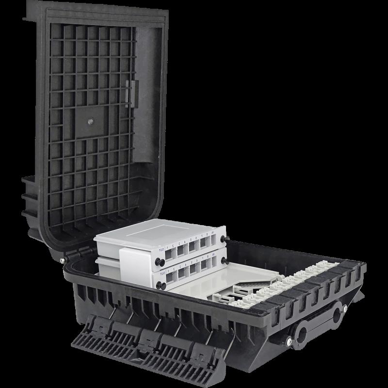 Samm Teknoloji - Outdoor Termination Box | 1 Tray 24 Fibers 16 Ports 16 LGX | 305216