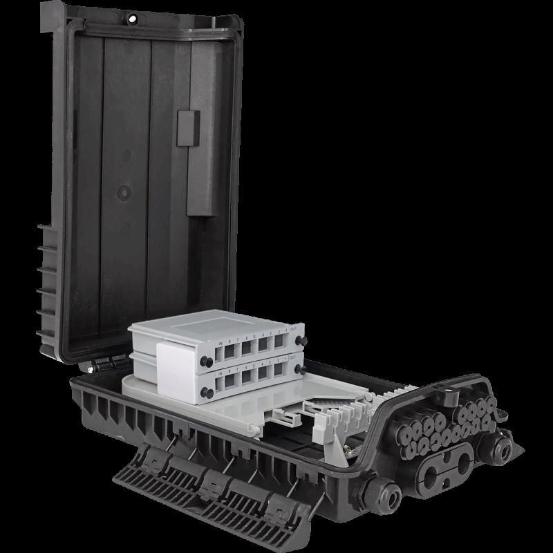 Samm Teknoloji - Outdoor Termination Box | 1 Tray 24 Fibers 16 Ports 16 LGX | 362217