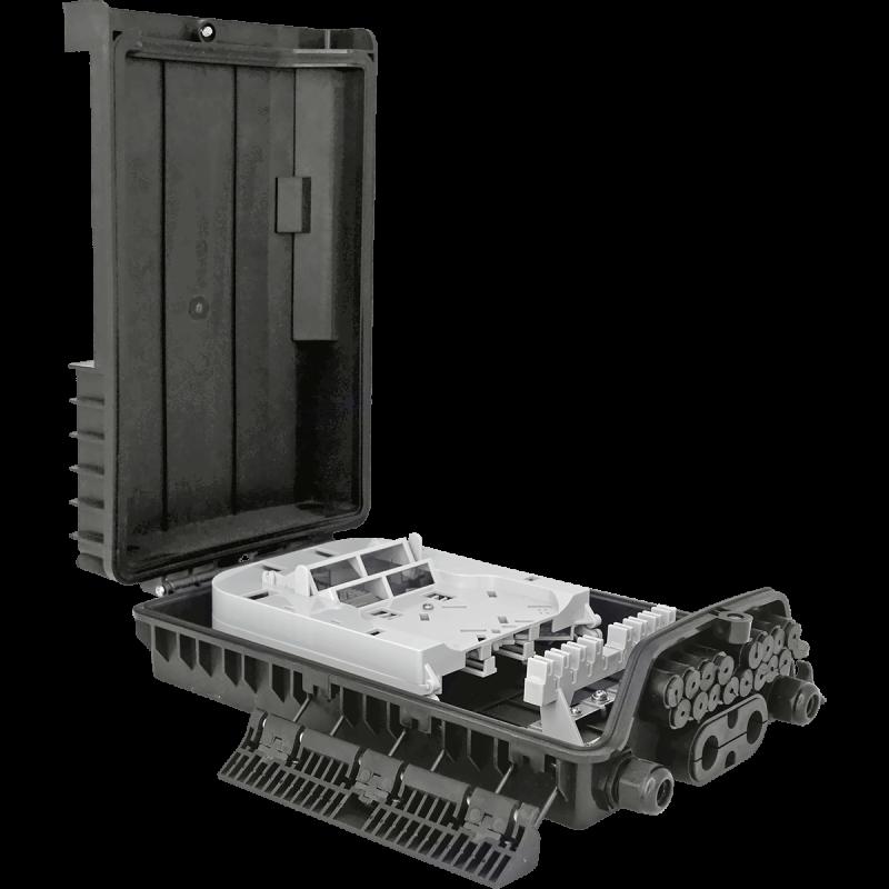 Samm Teknoloji - Outdoor Termination Box | 1 Tray 24 Fibers 16 Ports 16 PLC | 362217